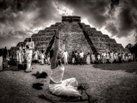 Praying at Chichen Itza 21-21-2012